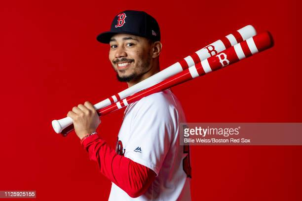 Mookie Betts of the Boston Red Sox poses for a portrait on team photo day on February 19 2019 at JetBlue Park at Fenway South in Fort Myers Florida