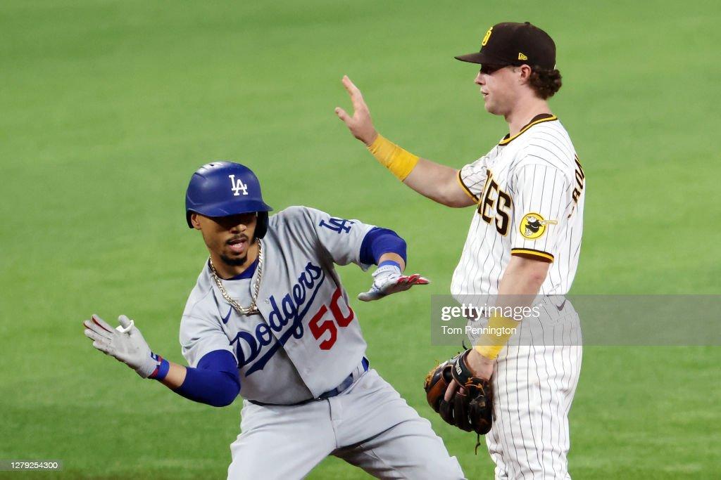 Division Series - Los Angeles Dodgers v San Diego Padres - Game Three : ニュース写真