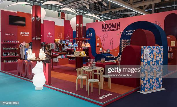 Moomin 70th Anniversary stand in Ambiente 2015 Frankfurt Germany 15 February 2015 Ambiente is the leading international trade fair for products for...