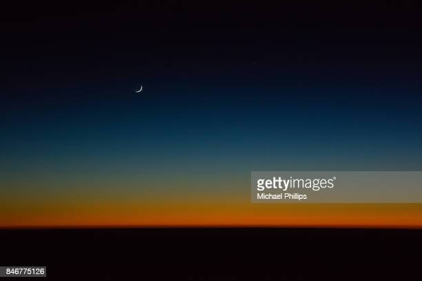 Moon after sunset