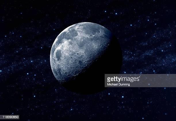 moon and stars - lune photos et images de collection