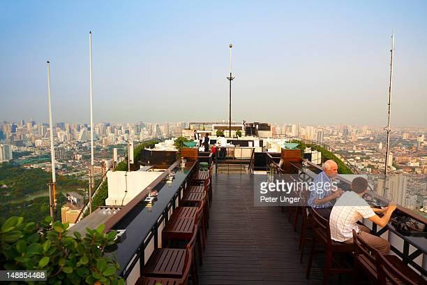 Moon Bar and Vertigo Grill Restaurant on the rooftop of the Banyan Tree Hotel.