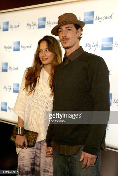 Moon Bloodgood and Eric Balfour during American Express Jam Sessions at House of Blues Red Carpet at House of Blues in Los Angeles California United...