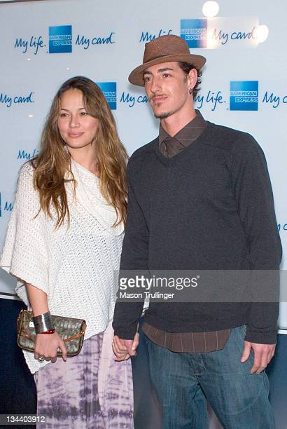 Moon Bloodgood and Eric Balfour during American Express Jam Sessions at the House of Blues Red Carpet at House of Blues in Los Angeles California...