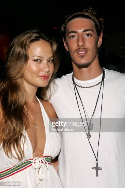 Moon Bloodgood and Eric Balfour during Green Dog Films Holds Benefit to Aid the Women of Juárez and Amazon Watch at THE DAY AFTER in Los Angeles...