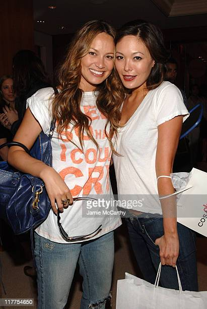 Moon Bloodgood and Lindsay Price during The 4th Annual Lucky Club Day 1 at The RitzCarlton Central Park South in New York City New York United States