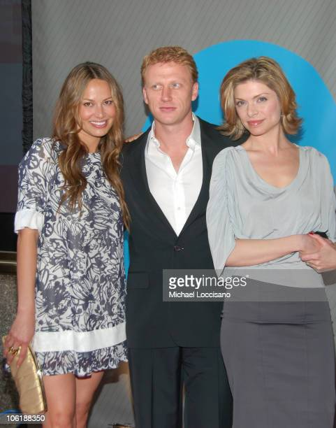 Moon Bloodgood Damian McKidd and Gretchen Egolf during NBC 20072008 Primetime Preview Red Carpeti Upfronts Arrivals at Radio City Music Hall in New...