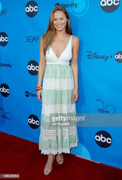 Moon Bloodgood during ABC All Star Party 2006 Arrivals at Rose Bowl in Pasadena California United States