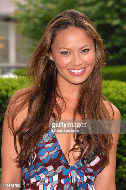 Moon Bloodgood during ABC Upfront 2006/2007 Arrivals at Lincoln Center in New York City New York United States