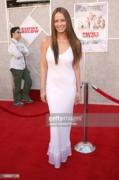 Moon Bloodgood during Eight Below Los Angeles Premiere Arrivals at El Capitan in Hollywood California United States