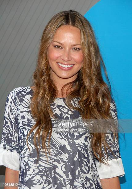 Moon Bloodgood during NBC 20072008 Primetime Preview Red Carpeti Upfronts Arrivals at Radio City Music Hall in New York City New York United States