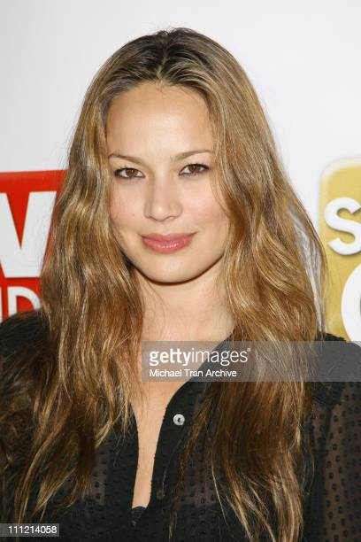 Moon Bloodgood during The SeenOnCom Launch Party Arrivals at Boulevard3 in Hollywood California United States