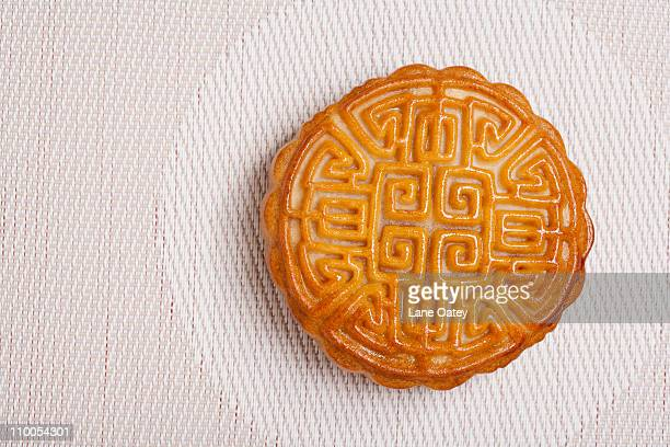 Moon Cake on a Geometric Place Mat