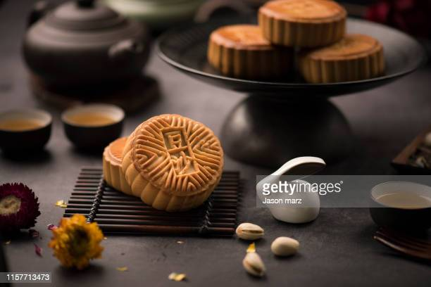moon cakes - moon cake stock pictures, royalty-free photos & images