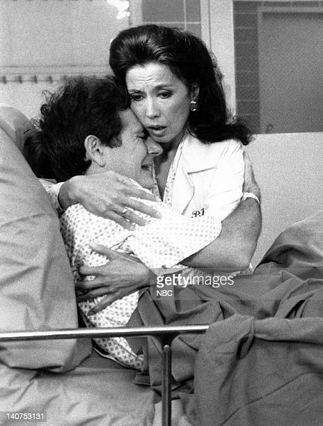 ST ELSEWHERE A Moon for the Misbegotten Episode 3 Pictured Richard Kline as Michael France Nuyen as Dr Paulette Kiem Photo by NBCU Photo Bank