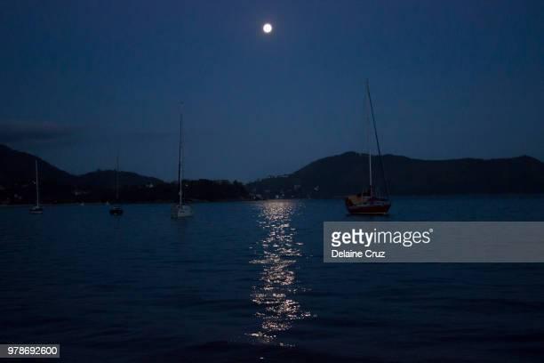 Moon in the Marina - Ubatuba