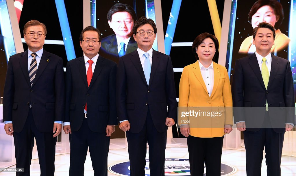 South Korean Presidential Election Candidates Attend Last TV Debate