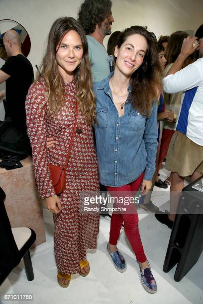 Moon Juice Founder and CEO Amanda Chantal Bacon and Ariel Leitstein attend Not So General Presents 'Transmutation' an inaugural show and the debut of...