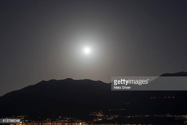 Moon light and mountain