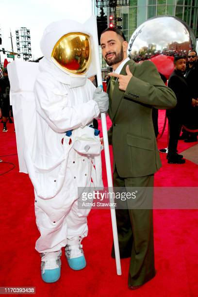 Moon Man and Marc Jacobs attend the 2019 MTV Video Music Awards at Prudential Center on August 26, 2019 in Newark, New Jersey.