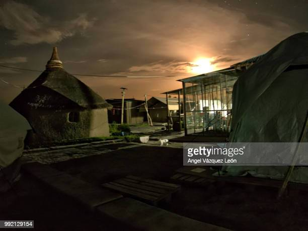 moon night at kodok camp, south sudan - south sudan stock pictures, royalty-free photos & images