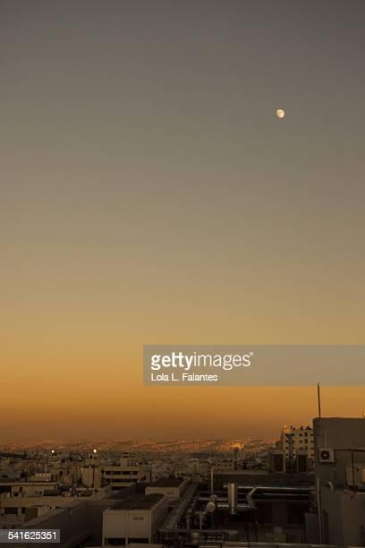 Moon over Amman