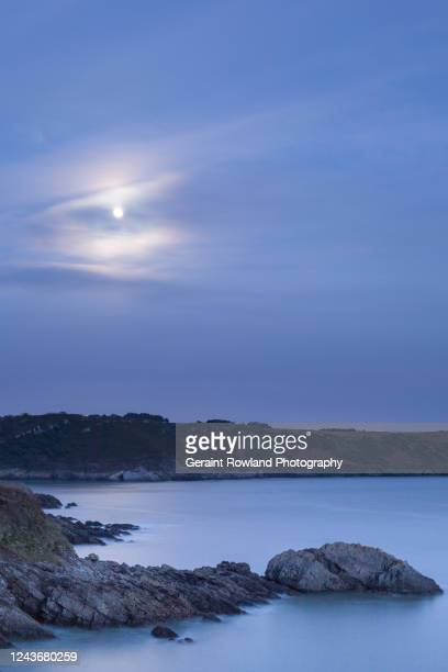 moon over wales - love magazine stock pictures, royalty-free photos & images