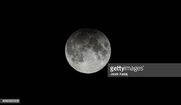 moon partial eclipse - lunar eclipse stock pictures, royalty-free photos & images