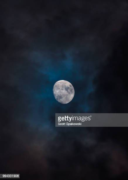 moon - midnight stock pictures, royalty-free photos & images