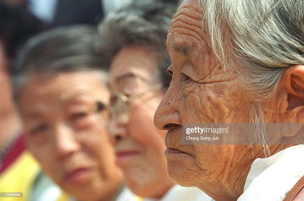 World War II South Korean Protest : News Photo