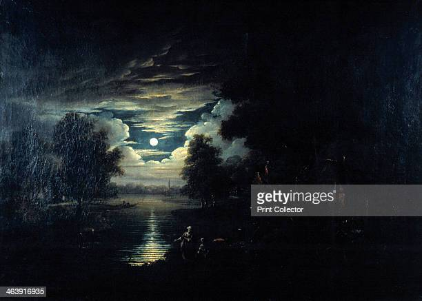 'Moon reflected in a lake', 17th century. Dutch School. From a private collection.