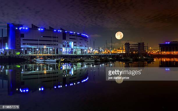 Moon Rise, Belfast City Quays, Northern Ireland
