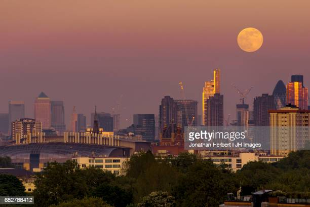 Moon Rise Over London
