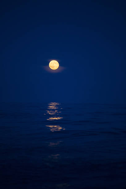 Moon rising over the North Sea