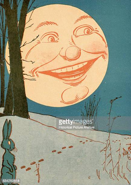 Moon Scene from Twas the Night Before Christmas Illustrated by Denlow