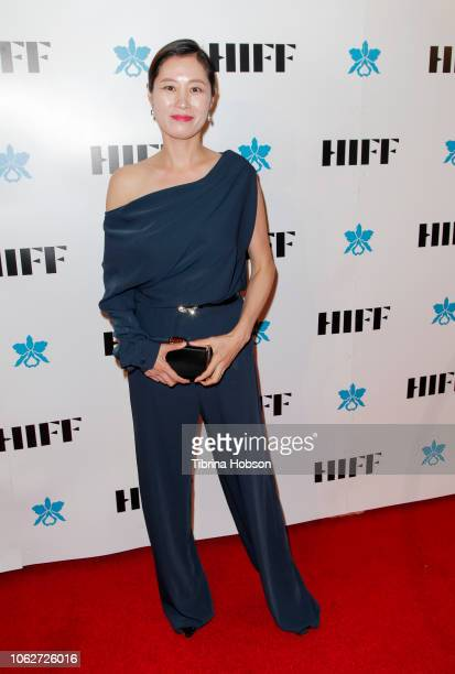 Moon Sori attends the 38th annual Hawaii International Film Festival awards gala presented by Halekulani on November 16 2018 in Honolulu Hawaii