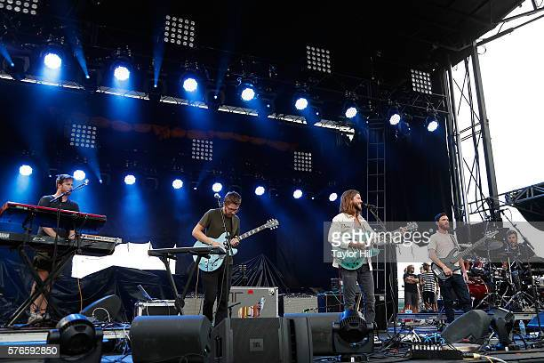 Moon Taxi perform during the 2016 Forecastle Festival at Waterfront Park on July 15 2016 in Louisville Kentucky