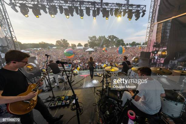 Moon Taxi performs during the Bonnaroo Music and Arts Festival 2018 on June 10 2018 in Manchester Tennessee