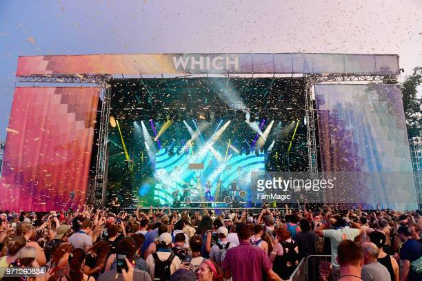 Moon Taxi performs on Which Stage during day 4 of the 2018 Bonnaroo Arts And Music Festival on June 10 2018 in Manchester Tennessee