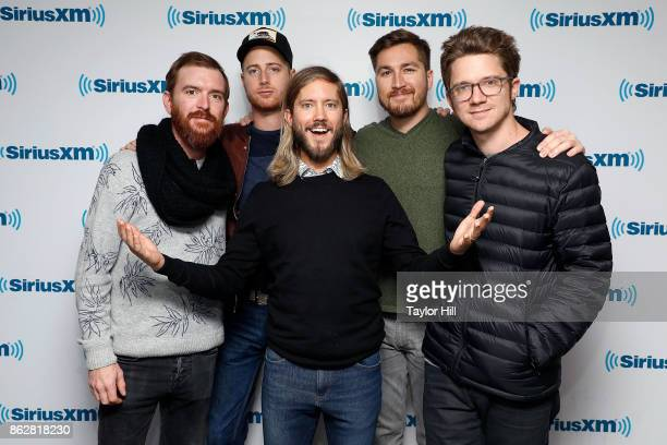 Moon Taxi visits the SiriusXM Studios on October 17 2017 in New York City