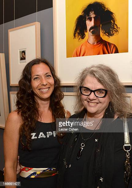 Moon Unit Zappa and her mother Gail Zappa attend the Who Shot Rock Roll Opening Night VIP Reception at the Annenberg Space For Photography on June 21...