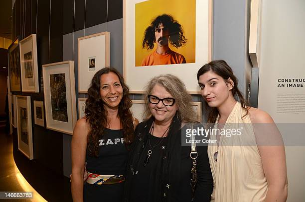 Moon Unit Zappa Gail Zappa and Diva Zappa attend the Who Shot Rock Roll Opening Night VIP Reception at the Annenberg Space For Photography on June 21...