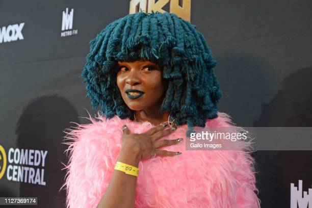 Moonchild Sanelly during the Comedy Central Roast of AKA held at Montecasino's Teatro Fourways on February 21 2019 in Johannesburg South Africa The...