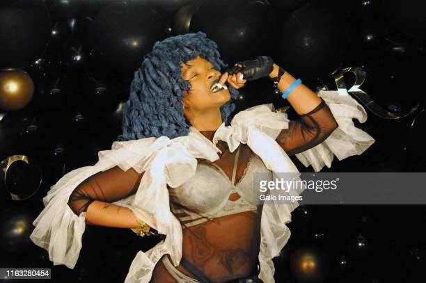 Moonchild Sanelly during the Courvoisier Limited Edition Black Bottle launch at Alice Fifth on August 22 2019 in Sandton South Africa The event...