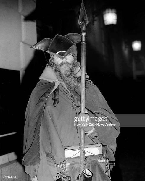 Moondog looming up in the night on Sixth Ave. Looks like the ghost of a long-dead Viking, but he will gladly accept alms.