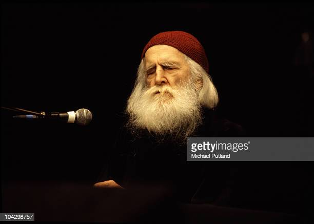 Moondog (Louis Thomas Hardin performs at the Poetry Olympics at the Royal Albert Hall in London, 1980s.