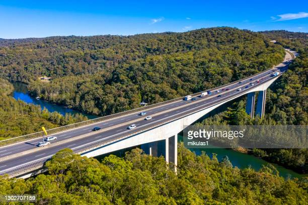 mooney mooney bridge, nsw, australia - new south wales stock pictures, royalty-free photos & images