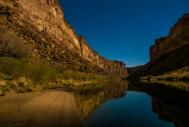 Moonlight and stars on the Colorado River