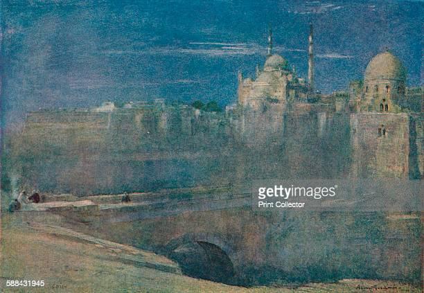 Moonlight on the Citadel Cairo' circa 1890 From The Studio Volume 73 Artist Albert Goodwin