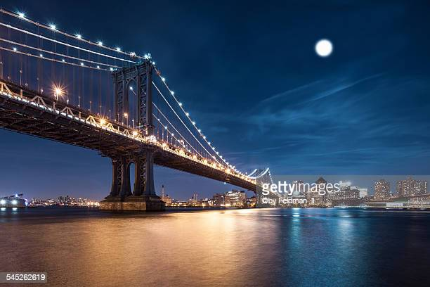 Moonlight over Manhattan bridge